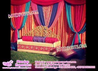 Mehandi Stage Decoration Idea in Open Garden
