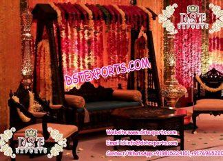 Muslim Wedding Mehandi Stage Decoration Swing Set