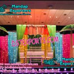 Muslim Wedding Mehandi Stage Decoration With Umbrellas