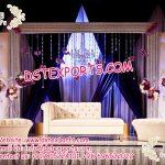 Latest Wedding Stage Sofa Set with Automans