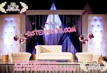 Latest Wedding Stage Sofa Set with Automans