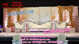 Wedding Stage Backdrop Frames with leather Panels
