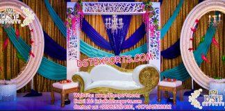 Latest Wedding Stage Backdrop Oval Panels