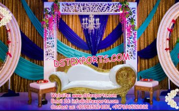 Latest Wedding Stage Backdrop Oval Panels