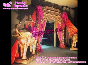 Wedding Welcome Gate with Elephant Statues