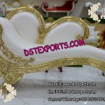 Italian Style Wedding Golden Carved Sofa