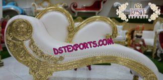 Italian Style Wedding Golden Carved Sofa