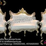 Indian Wedding Wooden Metal Carved Sofa Set