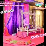 Sankheda Swing Set for Mehandi Stage Decoration