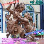 Beautiful Radha Krishna Fiber Statue