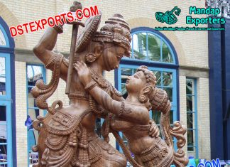 Beautiful Radha Krishna Fiber Statue