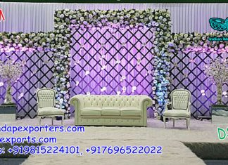 Bollywood Style Wedding Stage Decoration