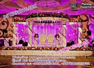 Crystal Mandap for Indian Wedding