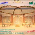 Elegant Hindu Wedding Wooden Stage Decoration