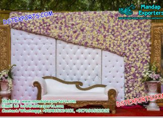 English Wedding Leather Tufted Panels