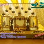Floral Muslim Wedding Stage Decoration