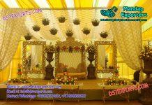 Floral Muslim Wedding Stage Decoration