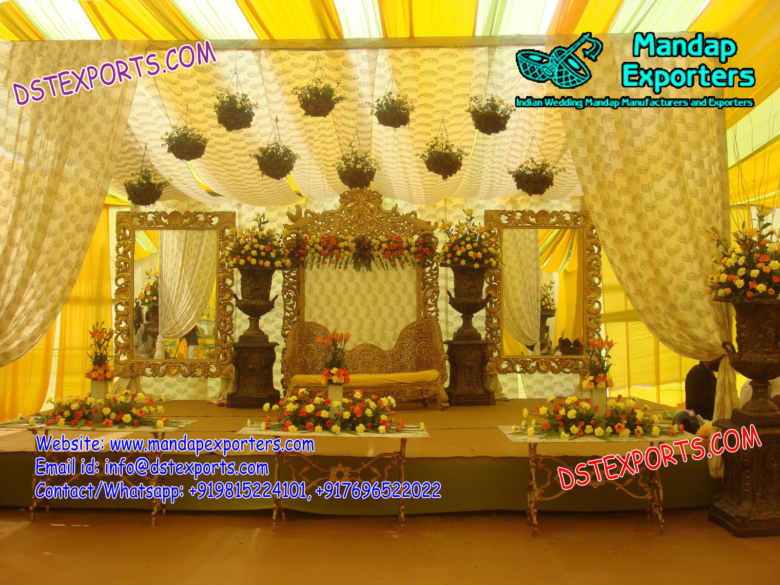Floral Muslim Wedding Stage Decoration – Mandap Exporters