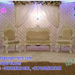 Glamorous Wedding Leather Tufted Panels stage