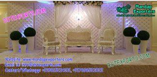 Glamorous Wedding Leather Tufted Panels stage