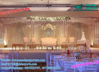 Glamorous Wedding Reception Stage Decor