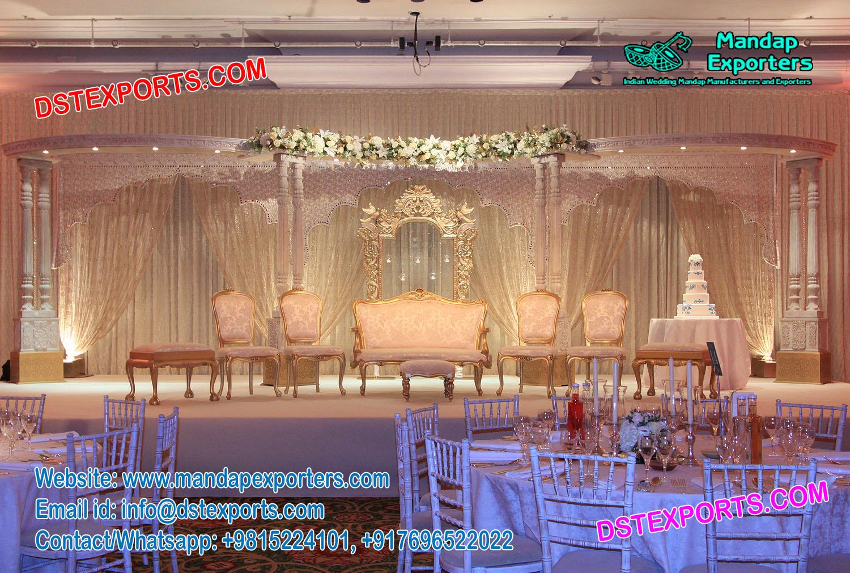 Glamorous Wedding Reception Stage Decor – Mandap Exporters