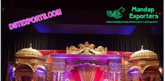Grand Jodha Akbar Wedding Stage Set
