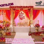 Indian Wedding Golden Jali Mandapam With Swing