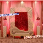Leather Tufted Wedding Stage Set