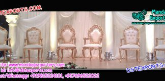 White Gold Plated Wedding Stage Chairs