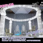 White Theme Crystal Mandap Decoration