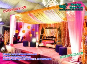 Wooden Carved Mehndi Stage Swing