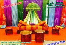 Beautiful Mehndi Night Stage With Moroccan Theme