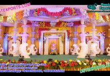 Best Designed Peacock Crystal Wedding Mandap