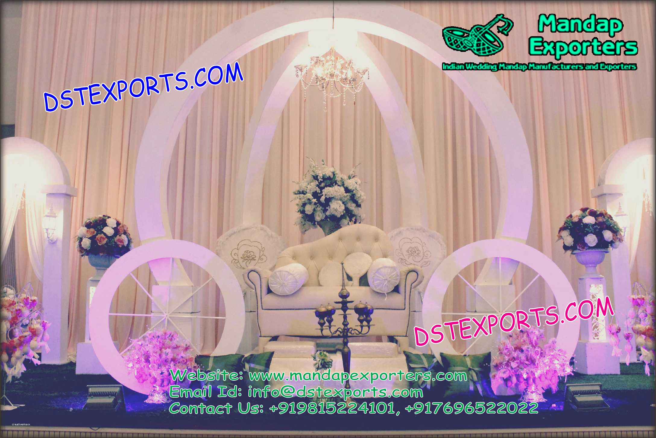 Cinderella Carriage Style Stage Set Mandap Exporters