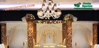 Elegant Wedding Wooden Carved Mandap