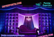 English Wedding Majestic Wooden Candle Wall