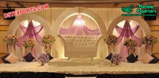 Exclusive Wedding Stage Decor With Round Panels