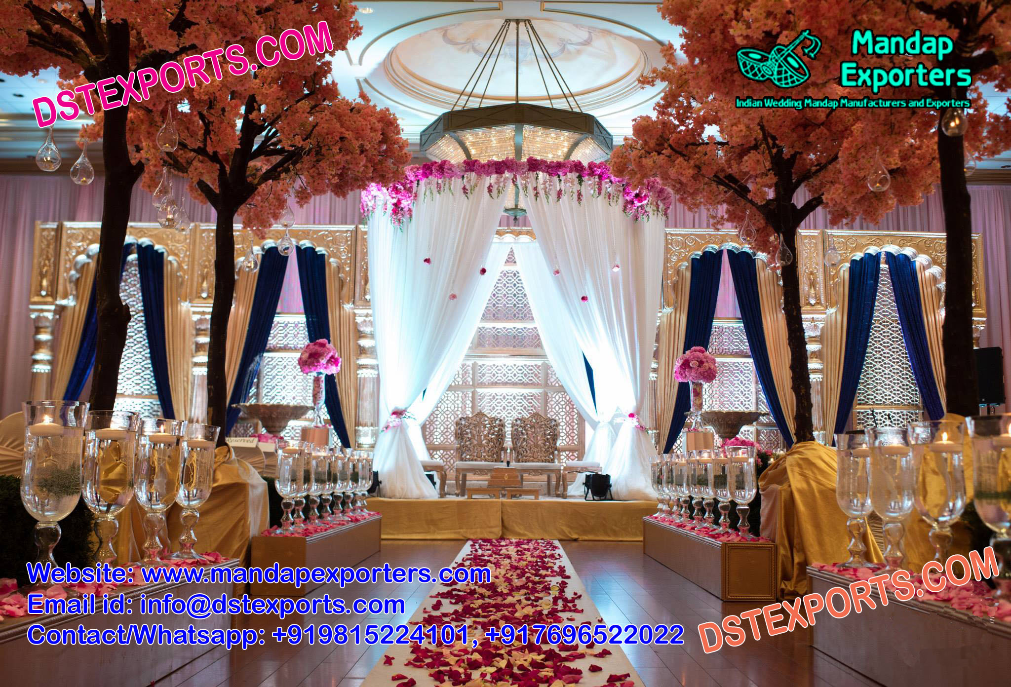 Famous Wedding Reception Stage Decoration – Mandap Exporters