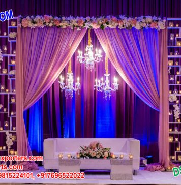 Fascinating Metal Candle Walls Decoration For Wedding