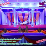 Gorgeous Wedding Crystal Fiber Mandap Set