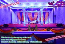 Gorgeous Wedding Crystal Fiber Mandap Set