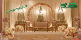 Grand American Wedding Stage Decoration