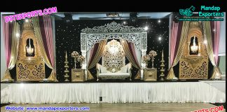Grand Asian Wedding Stage Decor