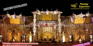 Grand Visual Wedding Stage Set