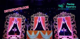 Grand Wedding Stage Backstage Panels Decoration