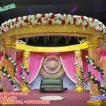Imperial Designed Wedding Crystal Mandap Set