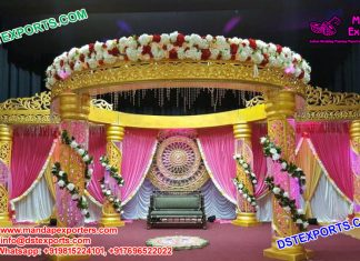 Imperial Designed Wedding Crystal Mandap Set