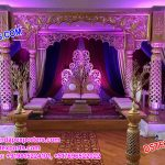 Imperial Designed Wedding Fiber Carved Mandap