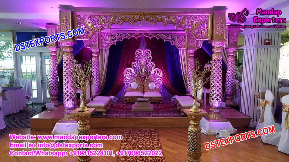 Imperial Designed Wedding Fiber Carved Mandap